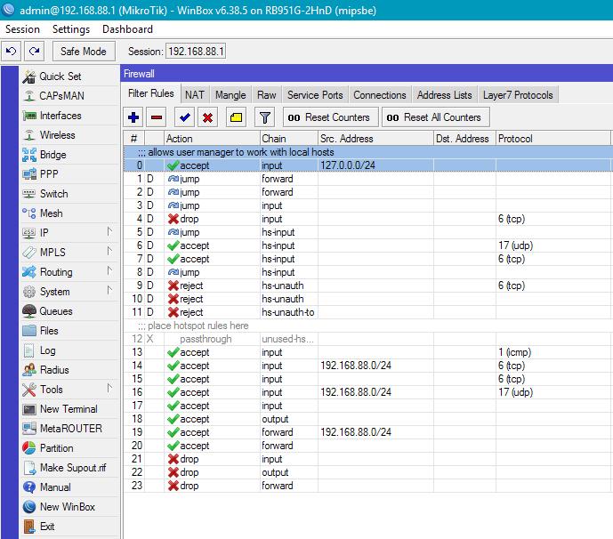 Организация HotSpot на оборудовании MikroTik с авторизацией через SMS