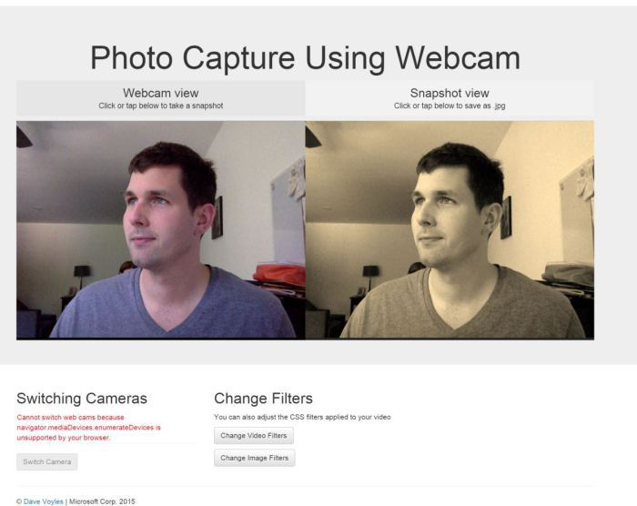 Использование Media Capture API в браузере