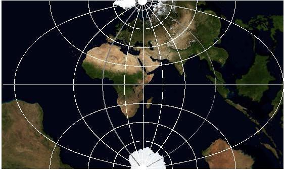 Проекция Гаусса-Крюгера, зона 7N, без обрезки за пределами зоны