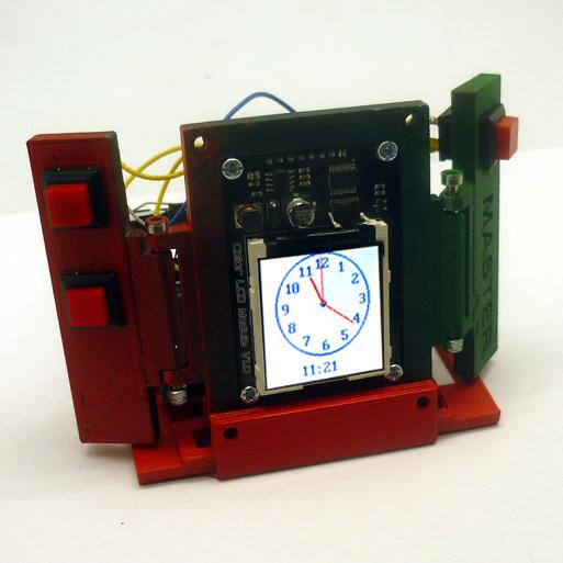 Будильник в технодизайне — настольные часы на основе Arduino