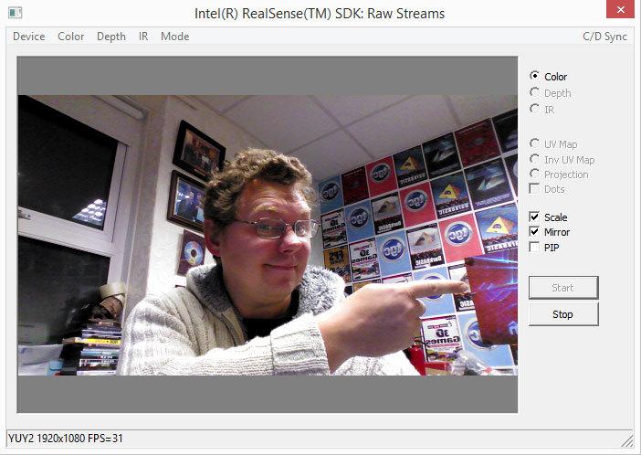 Intel® RealSense™  Работа с потоками необработанных данных