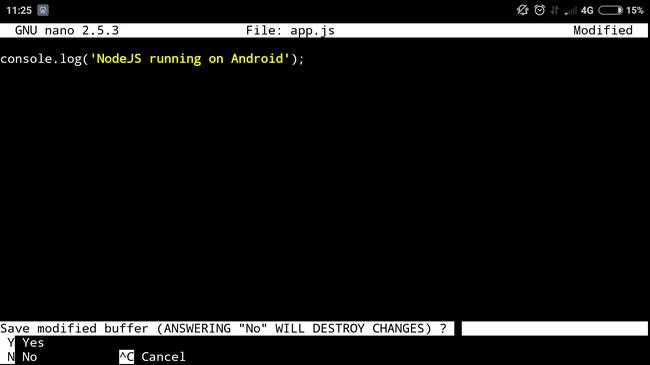 Запуск NodeJS-приложения на Android