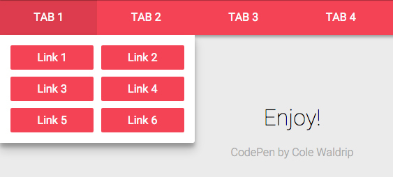 Большой обзор красивых многоуровневых меню с codepen / Блог компании