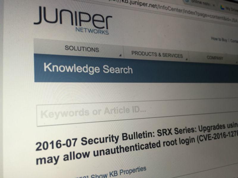 Обновление для межсетевых экранов Juniper открывает несанкционированный roo ...
