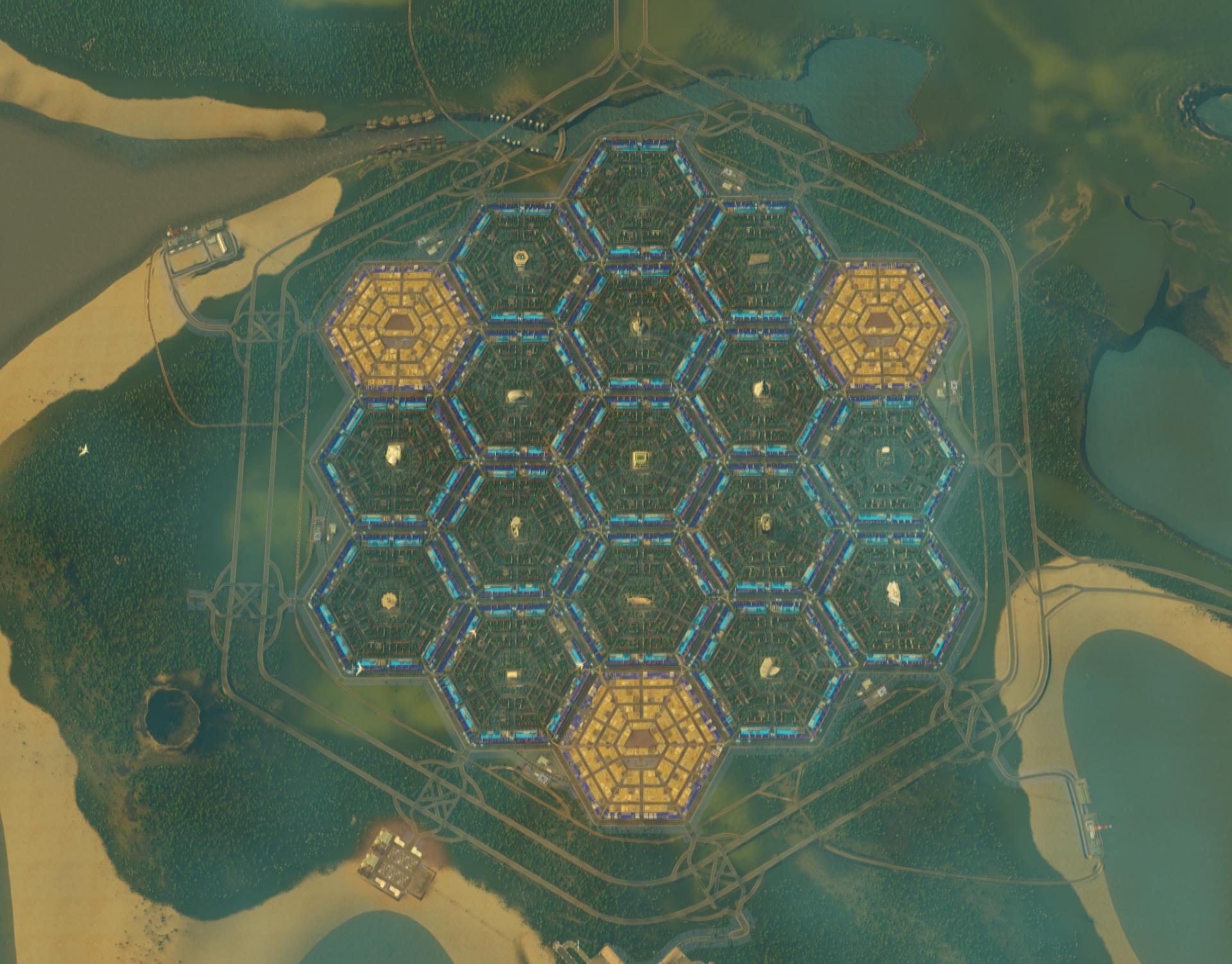 чертеж конструкции шестиугольного ларька