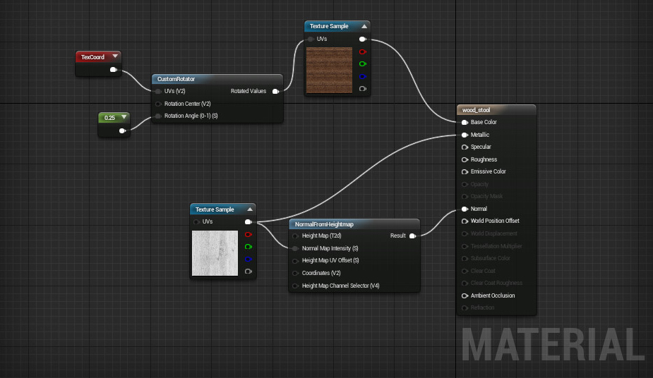 how to add metallic roughness in unreal