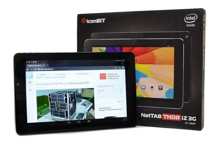 Сиквел «Intel Inside» по-русски с 3G: обзор планшета iconBIT NETTAB THOR IZ 3G