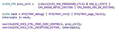 Рис. 7. Включаем вывод VMX для ловушек и сбоев