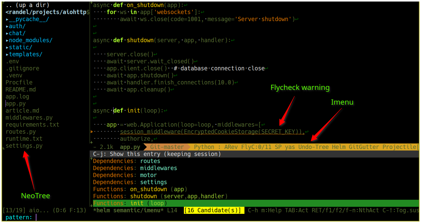 screenshots for editor