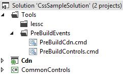 Скриншот солюшена с проектами