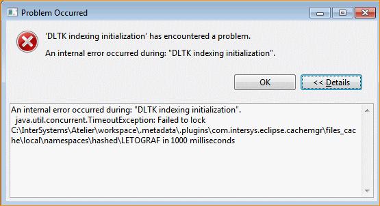 DLTK Indexing initialization error