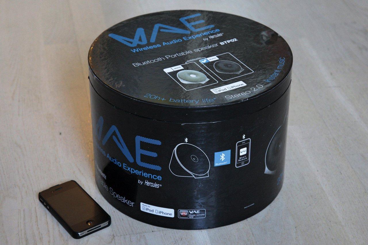 WAE BTP02 — мобильный беспроводной динамик от Hercules