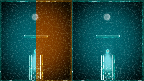 We create 2D - portals by means of shaders