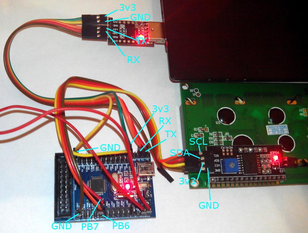 STM32 и LCD через I2C / Хабр