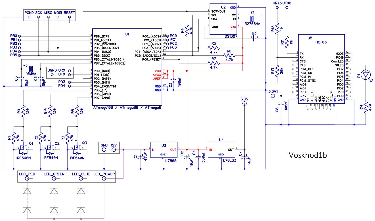 микропроцессор attiny13 схема структурная