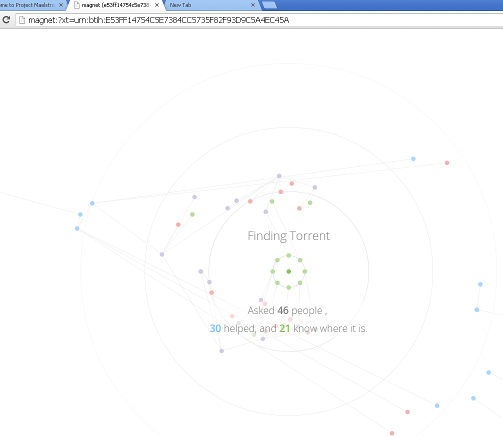 Now peer-2-peer the Project Maelstrom browser is available ...