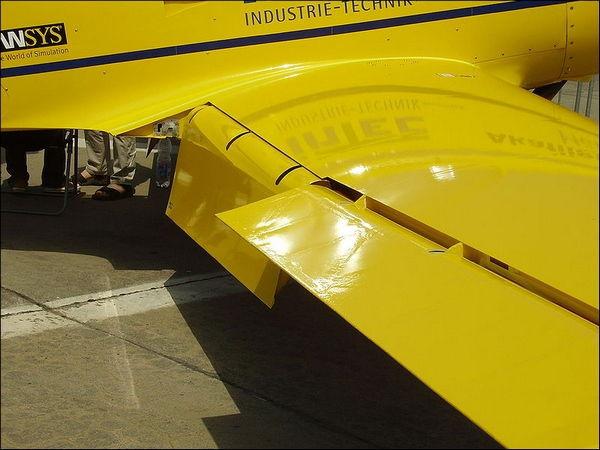 Простой (поворотный) закрылок. Самолет Mu30 Schlacro