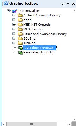 В результате, в панели графических элементов появится компонент  CrystalReportViewer.