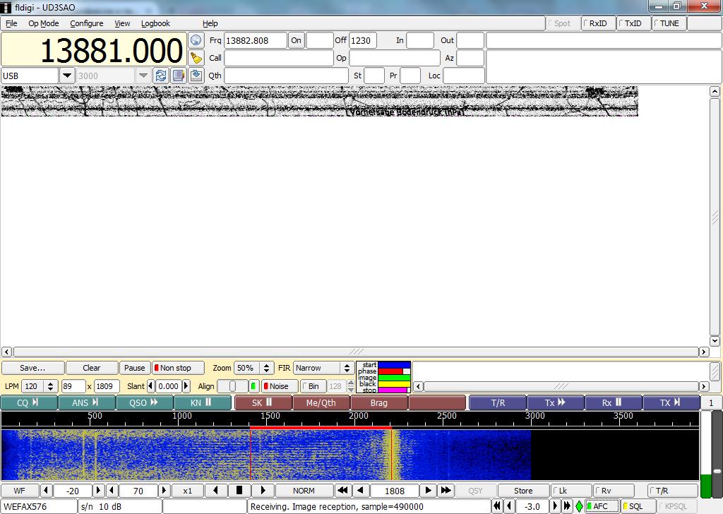 Приём радиофаксов и прочих цифровых передач с помощью обычного приёмника и компьютера
