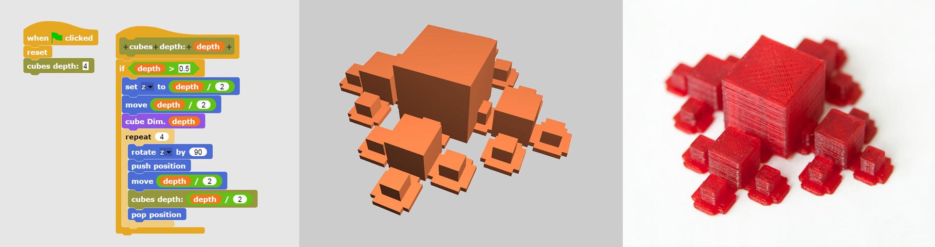 Мотивация к программированию, через 3д рисование (обзор проекта BeetleBlocks)