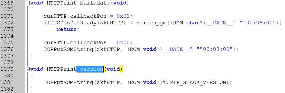 Фрагмент кода CustomHTPPApp.c