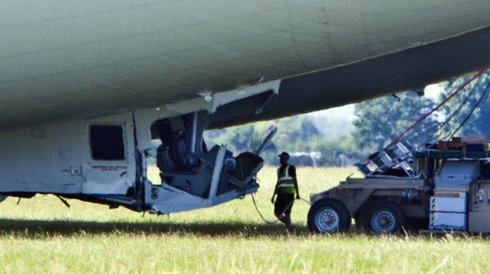 Гигантский самолёт-дирижабль Airlander 10 потерпел аварию