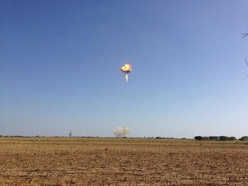 Во время испытаний взорвался прототип Falcon 9-R