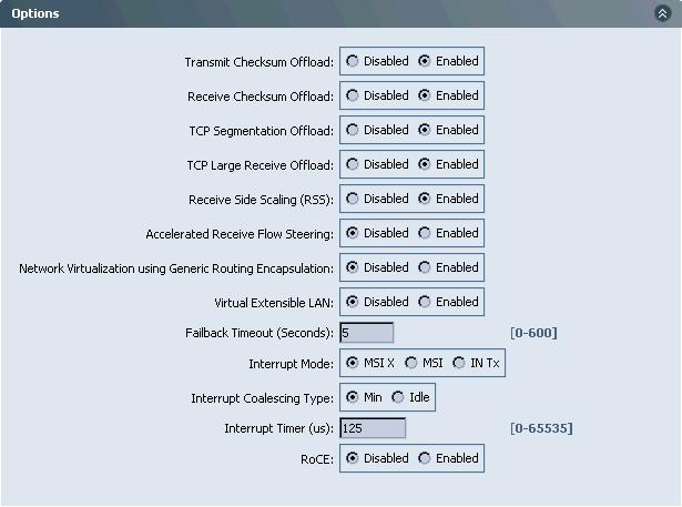 adapter options