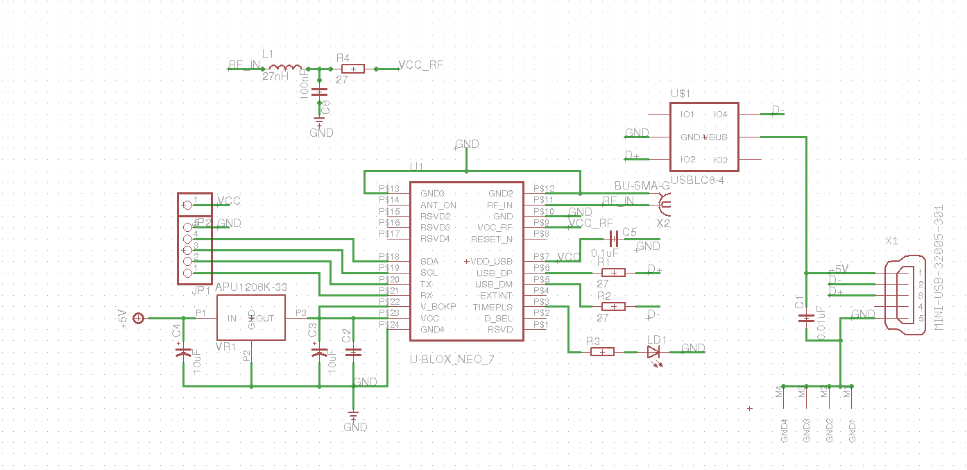 The Positioning Module On Basis Of U Blox Neo 7m It Daily Blog Gps Circuit Schematic