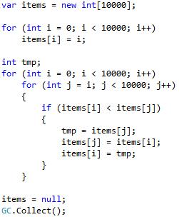 Еще одно сравнение производительности С++ и C# / Хабр