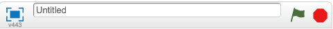 Поле названия проекта в Scratch
