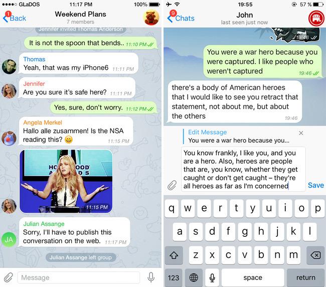 В Telegram появилась возможность изменять отправленные сообщения