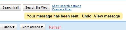 Gmail undo action