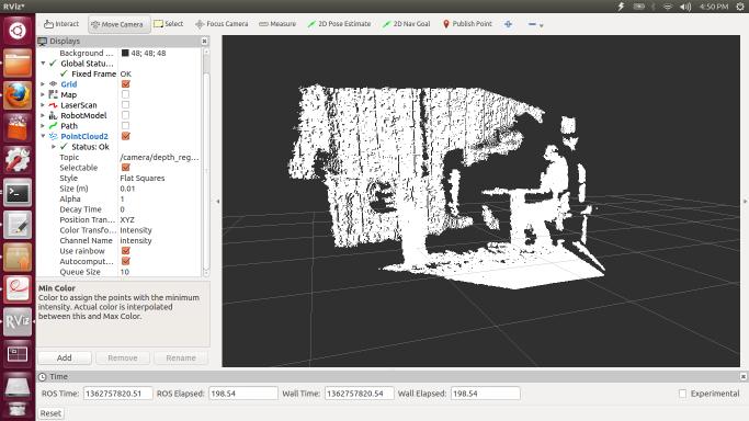 Использование Microsoft Kinect 360 в ROS Indigo
