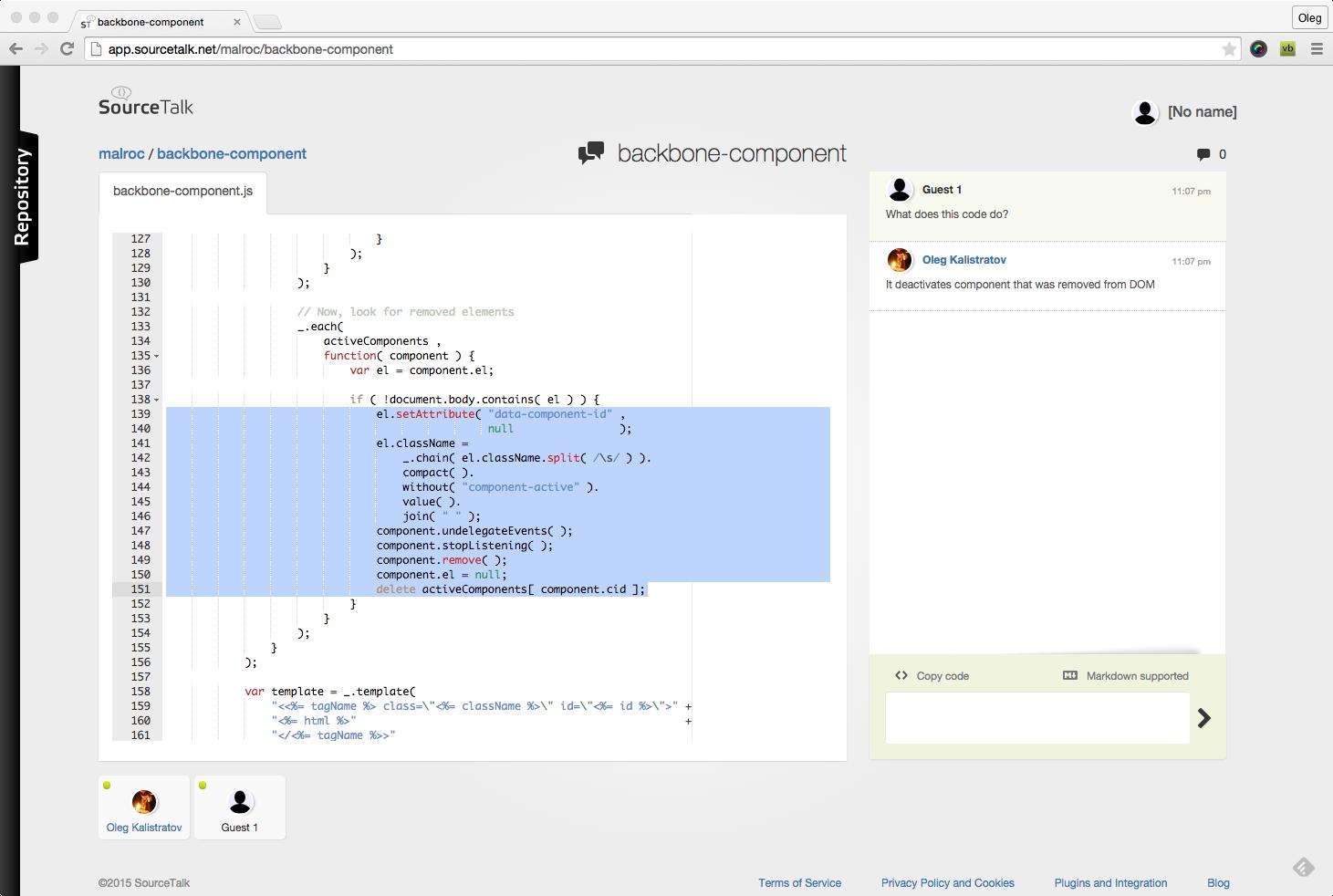 SourceTalk (сервис для обсуждения исходных кодов): релиз