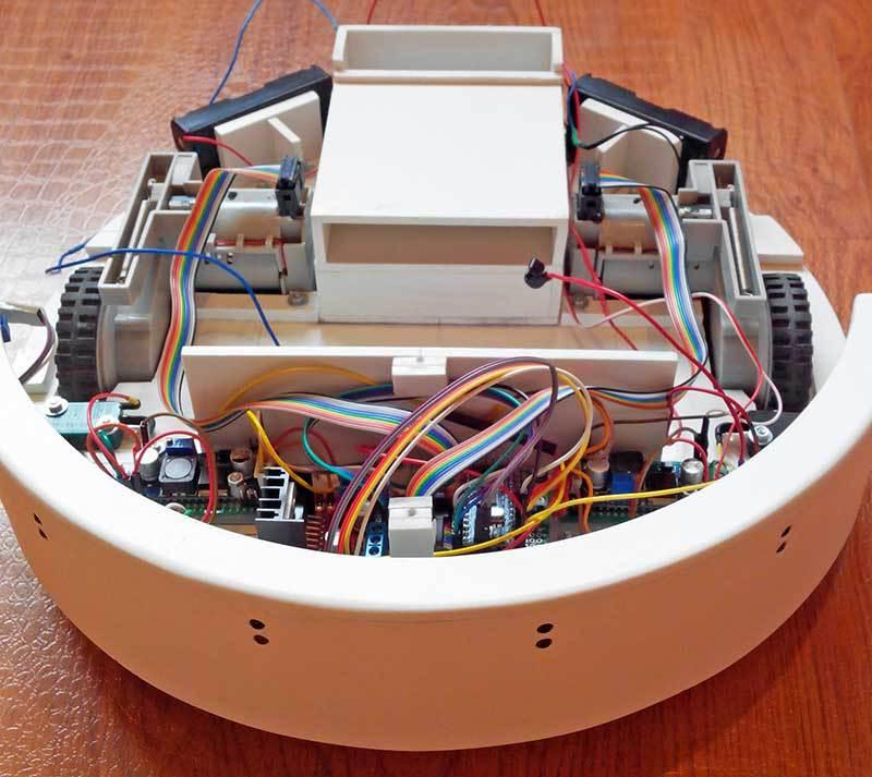 The robot vacuum cleaner on arduino geek magazine