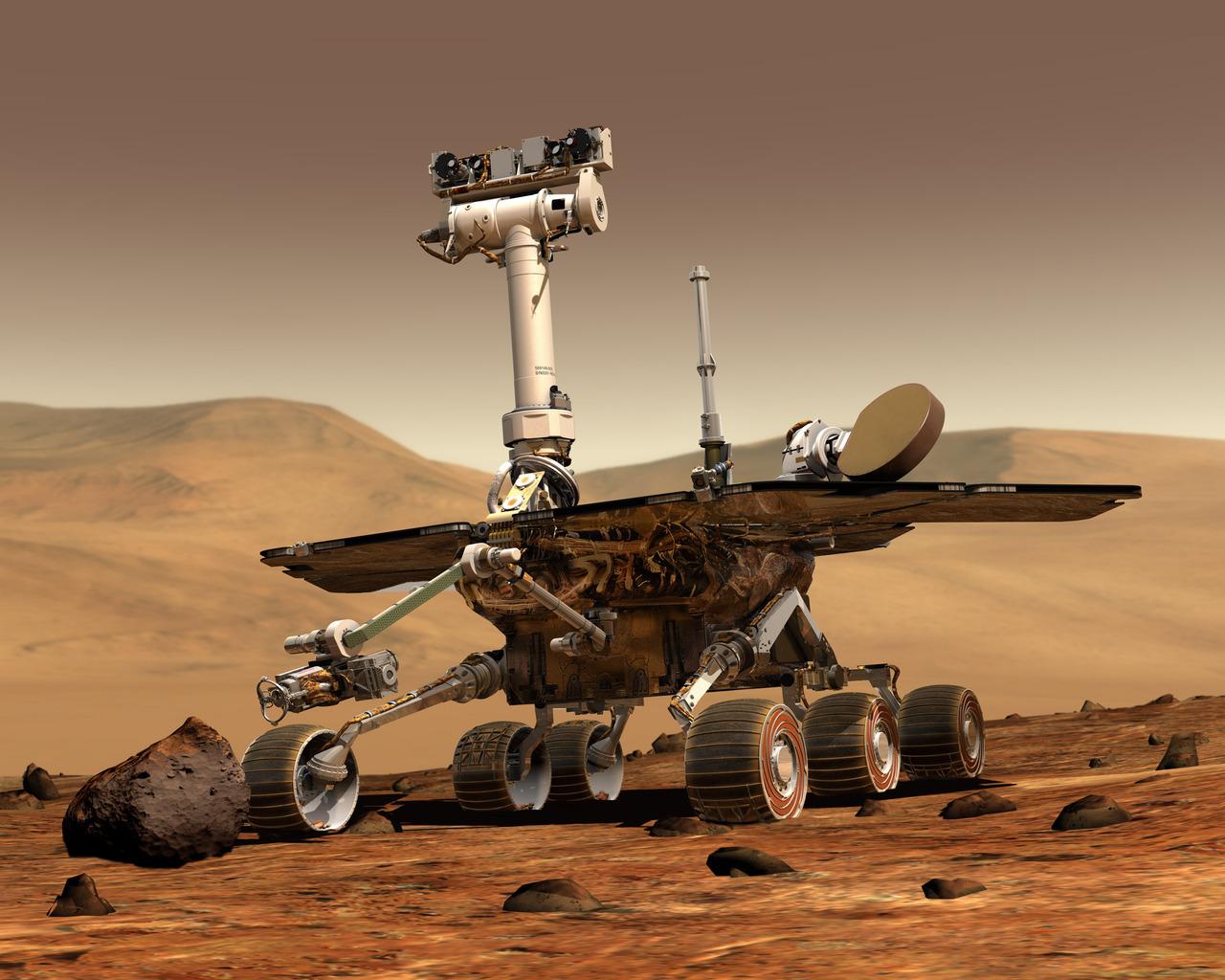 Марсоход Opportunity более чем в 40 раз превысил запланированный срок служб ...