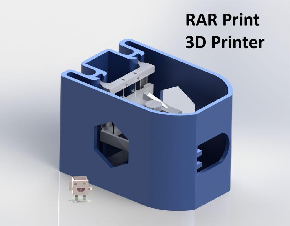 RAR Print — самодельный 3D принтер из CD rom'ов