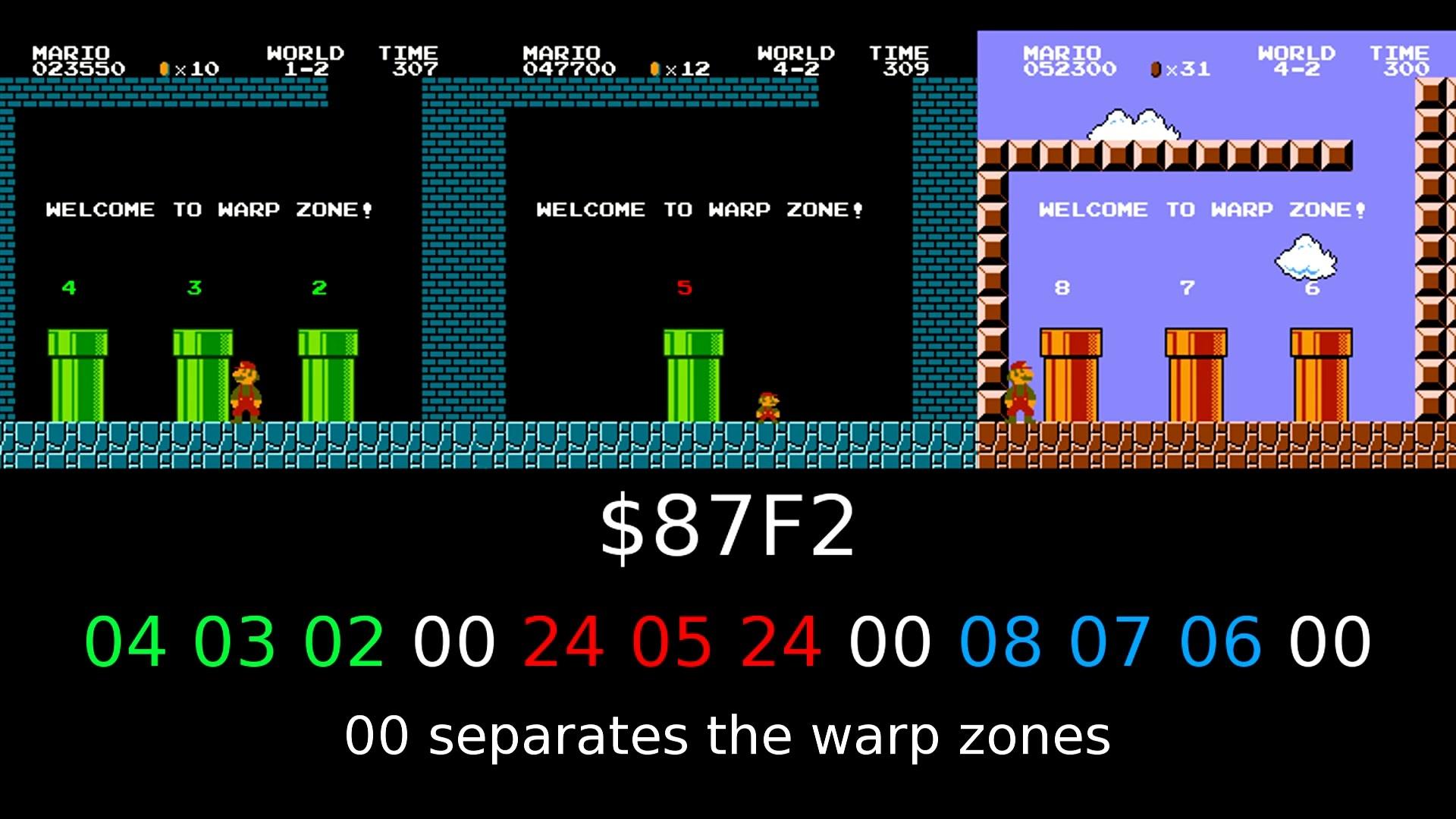 Как работает баг с миром −1 в Super Mario Bros