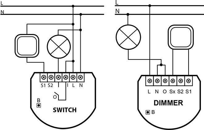 Диммер на провод схема