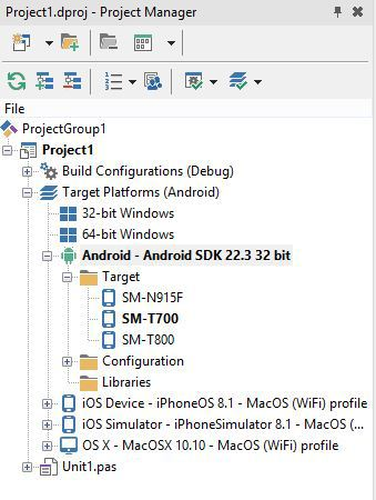 Как настроить Android и RAD Studio XE7 (Delphi, C++ Builder