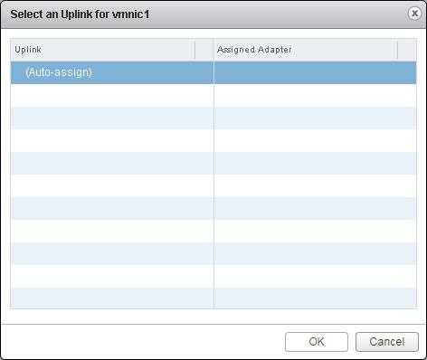 vcsa 6.0 uplinks