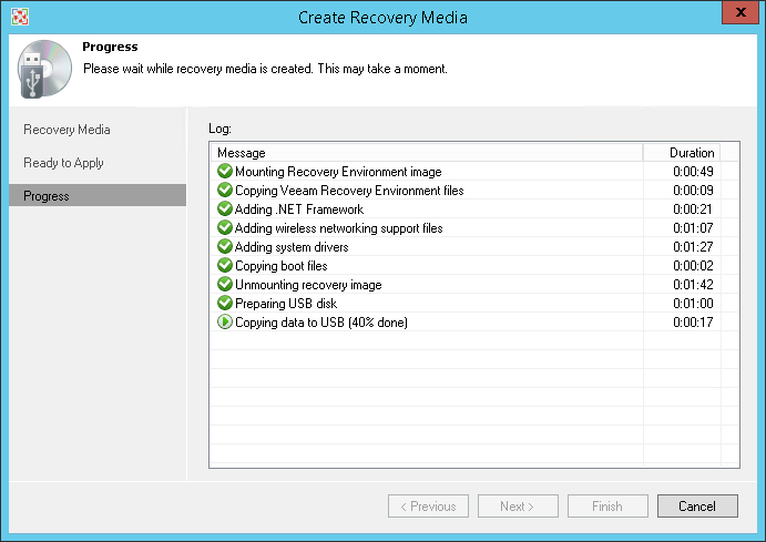 Backup of physical machines by means of free product of Veeam Endpoint Backup FREE