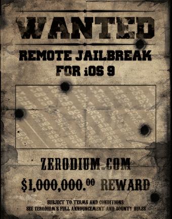 Фирма Zerodium предлагает миллион долларов за эксплойт для iOS 9
