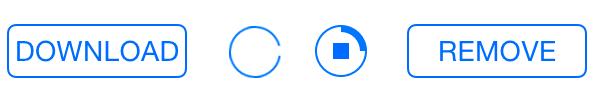 App Store style кастомизируемая кнопка загрузки