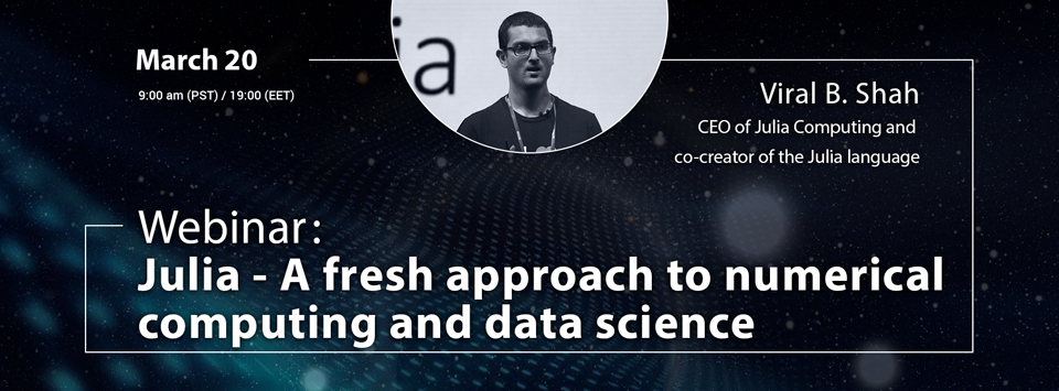 Вебинар: Julia — A fresh approach to numerical computing and data science