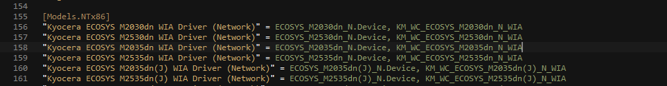 Автоматическое подключение сетевых МФУ с возможностью сканирования