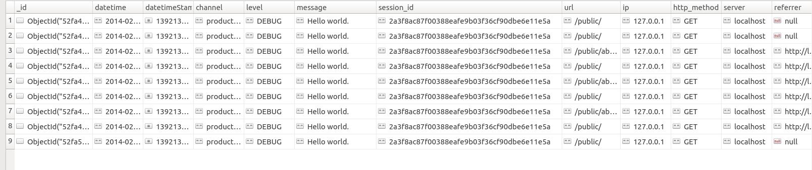 Howto log with MongoDB   Laravel.io