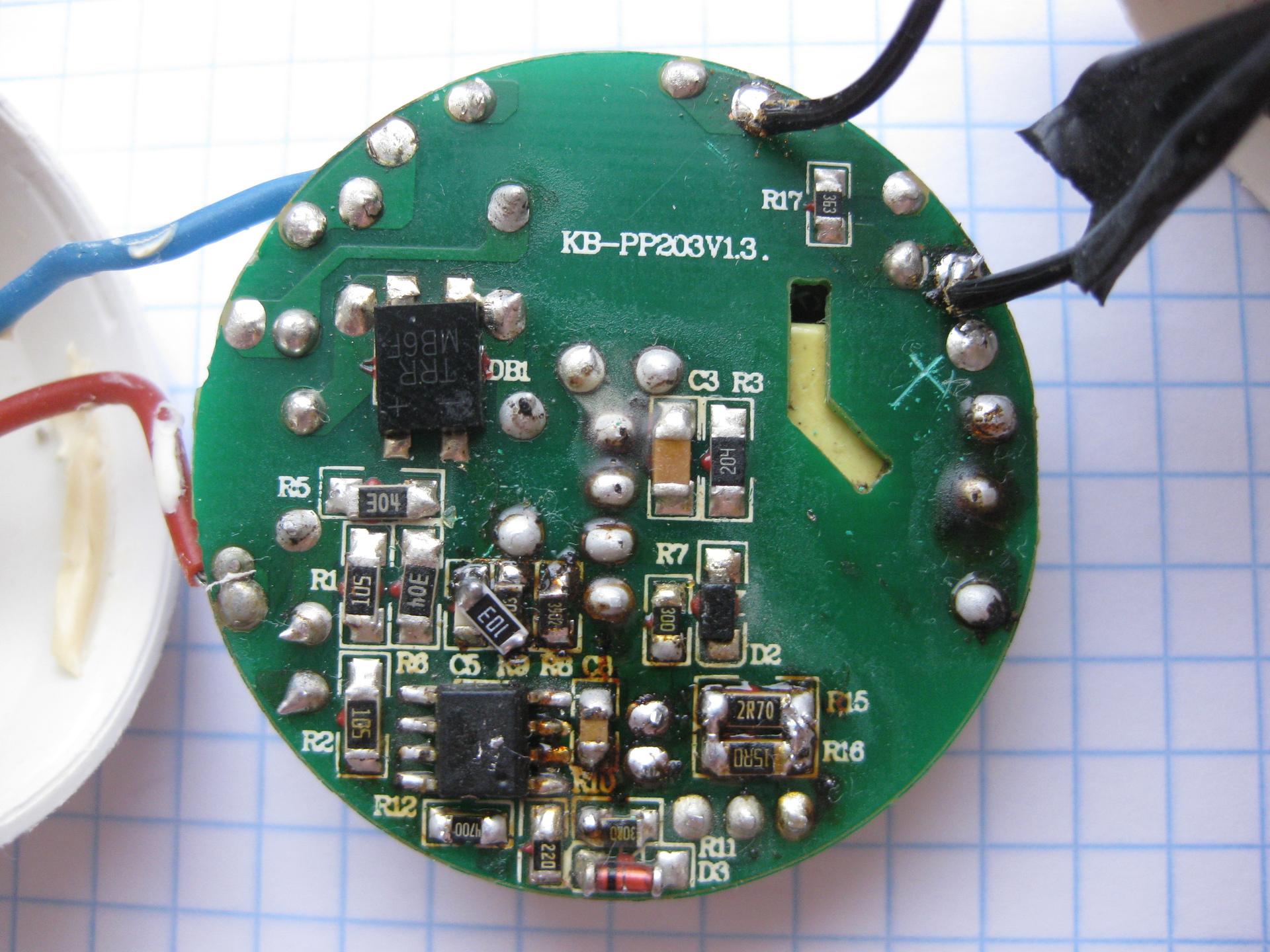 схема светодиодного мигающего фонаря