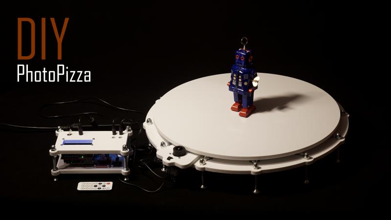 DIY Поворотный столик для 3D-сканирования и съемки фото-360